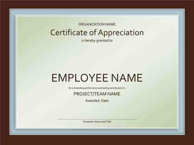 10 certificate of appreciation template free download award certificate template yadclub Images