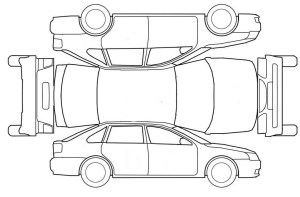 Vehicle Damage Diagram Template Sketch Coloring Page