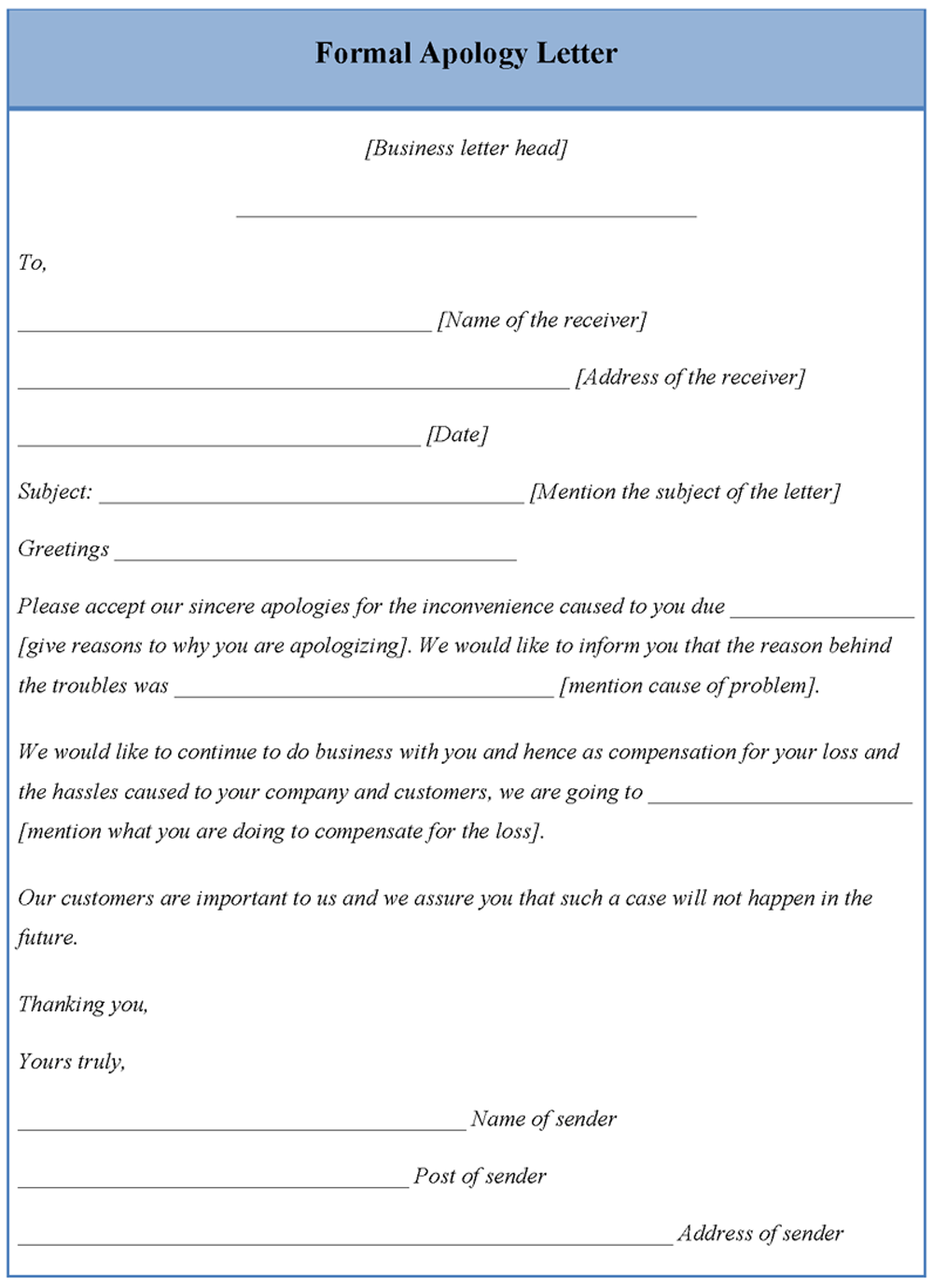 Apology letter format free download apology letter spiritdancerdesigns Image collections