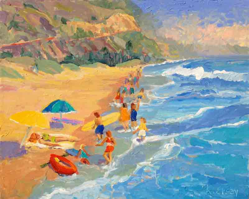 Beach Paintings Famous Watercolor Artist