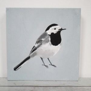 kwikstaart, vogel op hout