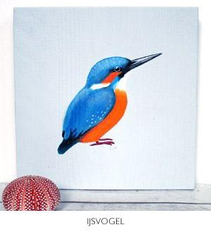 ijsvogel schilderij