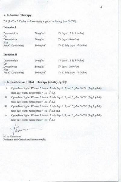 seyanu's doctor's report