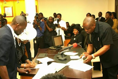 PHOTOS: Gov. Wike Swears In First Female Chief Judge Of River State