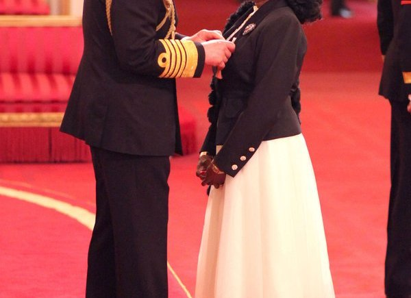 Nigerian British Singer, Patti Boulaye Gets O.B.E. From HRH Prince Charles