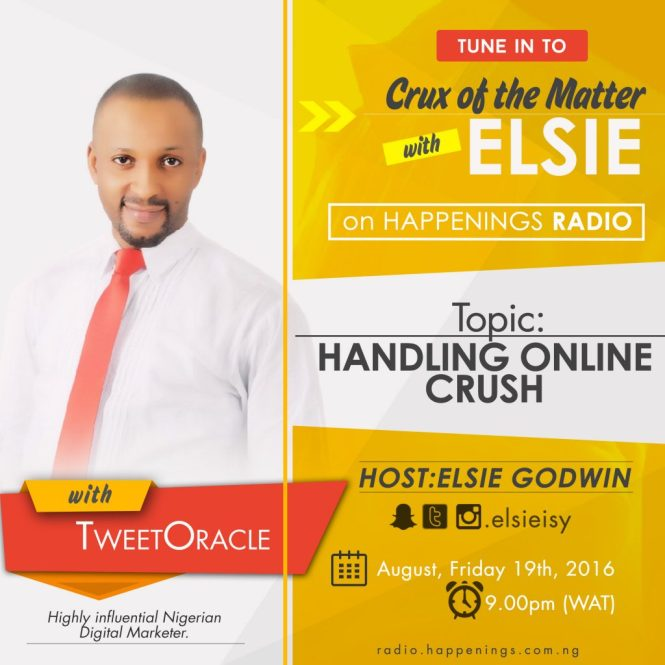 Crux of the matter with Elsie on Happenings Radio