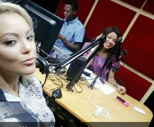 sarah ofili and Elsie Godwin at Happenings Radio studio - elsieisy blog