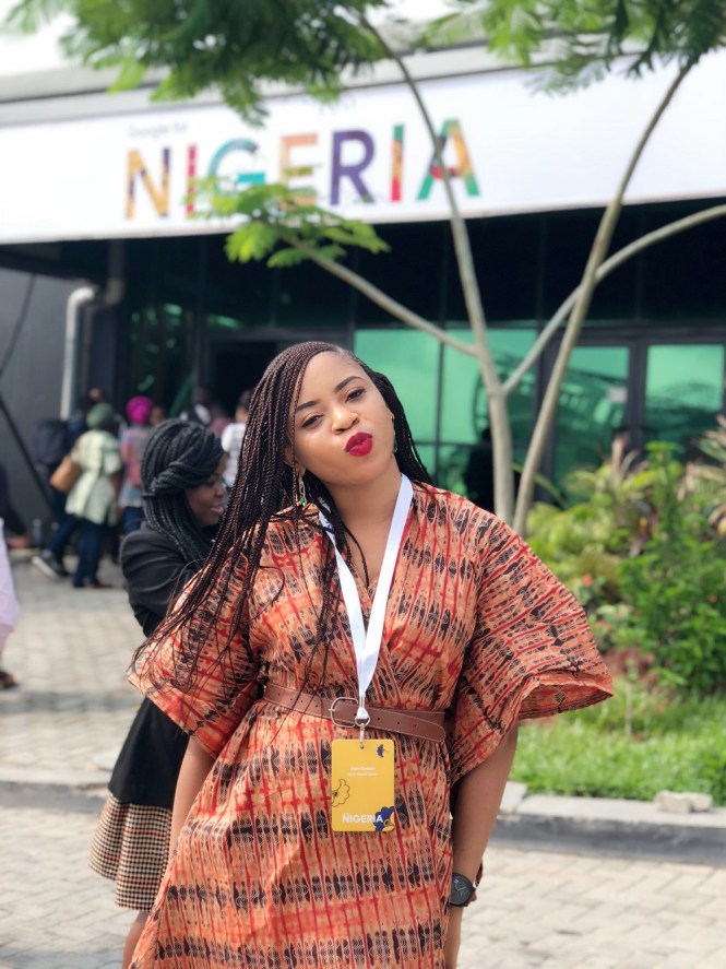 Elsie Godwin at Google For Nigeria Keynote speech- elsieisy blog