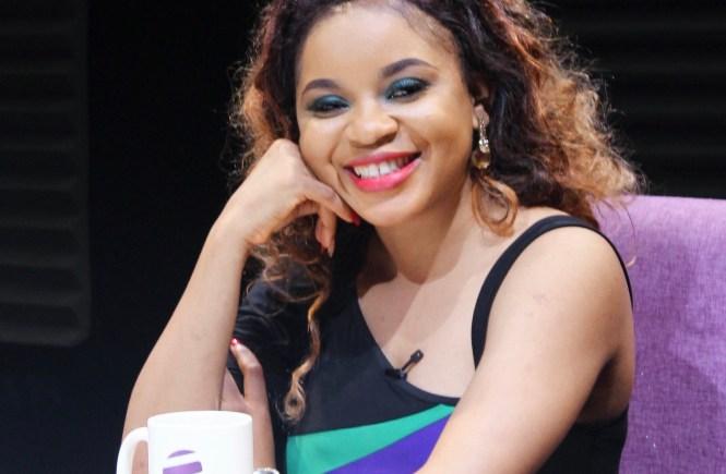 Elsie Godwin on the set of Tea Time on PlusTV Africa - elsieisy blog
