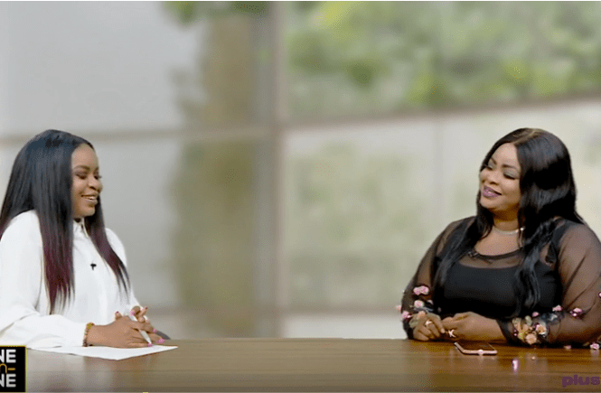 Elsie Godwin and Dayo Amusa at Plus TV Africa - elsieisy blog