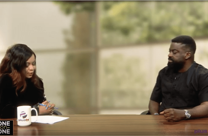 Kunle Afolayan and Elsie Godwin on One on One set at Plus TV Africa - Elsieisy blog