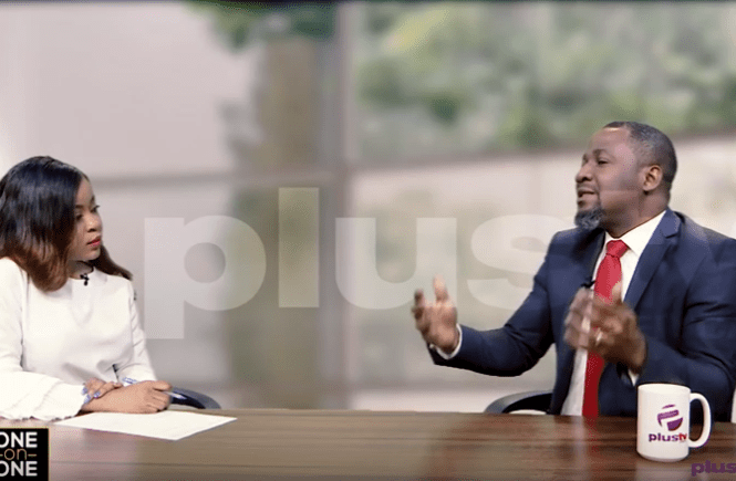Lanre Afolabi and Elsie Godwin on Plus TV Africa set - elsieisy blog