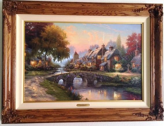 Cobblestone Bridge By Thomas Kinkade Framed Canvas Consignment
