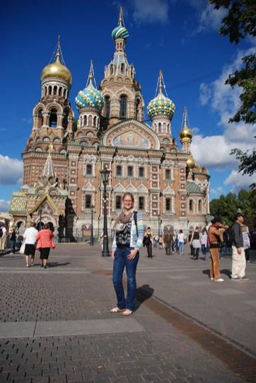 Kerk van de Verlosser op het bloed Sint Petersburg selfie