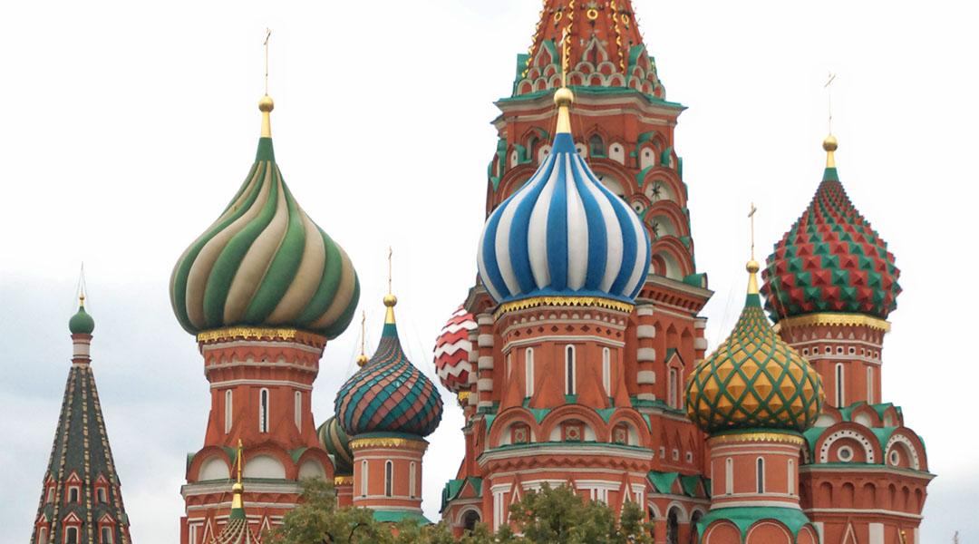 Eerste dag in Moskou Sint Basil kathedraal