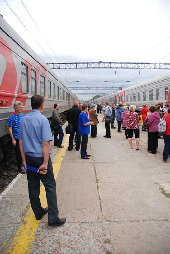 Trein Moskou naar Novosibirsk TransSiberië station