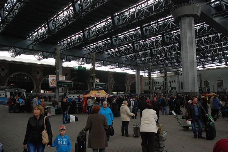 Treinstation Moskou Rusland