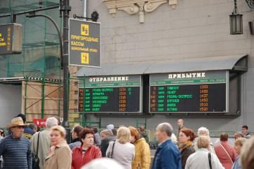 Treinstation Moskou vertrektijden