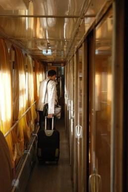 Rustam vertrekt TransSiberië express