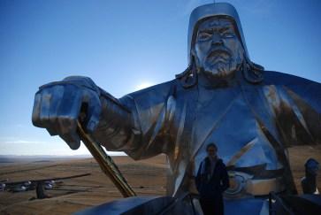 Genghis Khan standbeeld Ulaanbaatar
