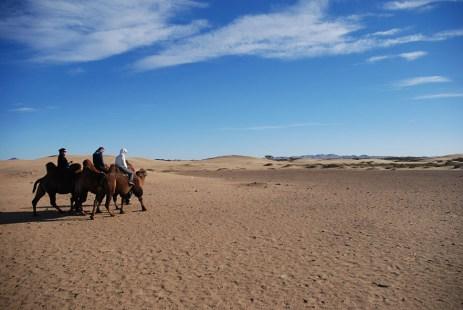 Kameel rijden semidesert Mongolië