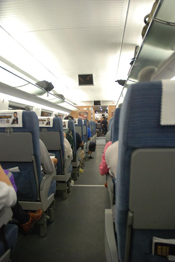 Trein van Shanghai naar Hangzhou China binnenkant
