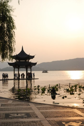 Tempel West lake Hangzhou China