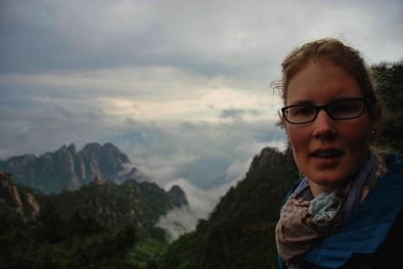 Huangshan Gele bergen Els op Reis