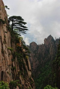 Huangshan Gele bergen uitzicht