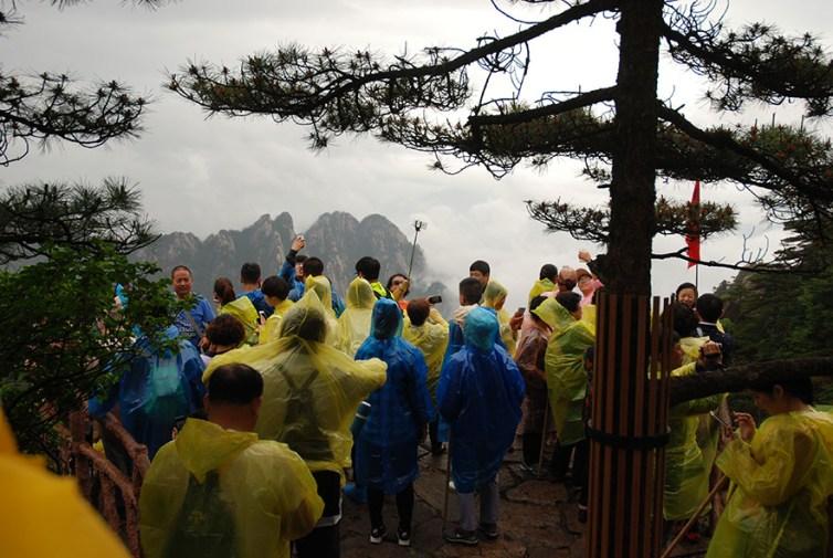 Huangshan Gele bergen China toeristen