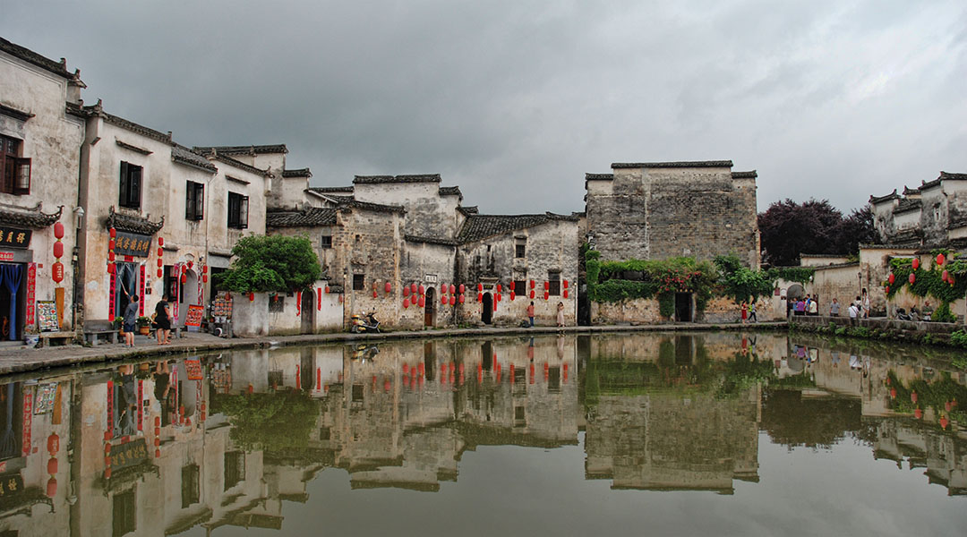 Huizhou dorpjes Xidi en Hongcun