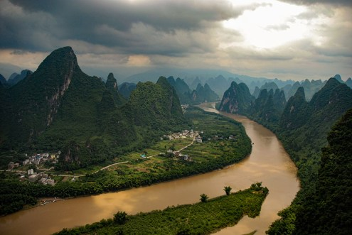 Uitzichtpunt Yangshuo Xingping Guilin