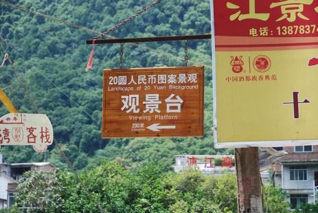 Xingping China twintig yen biljet uitkijkpunt