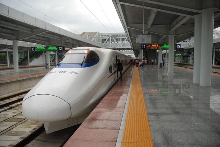 Trein van Guilin via Shenzhen naar Hong Kong