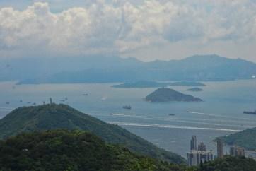Victoria peak Hong Kong uitzicht