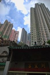 Man Mo tempel Hong Kong buitenkant