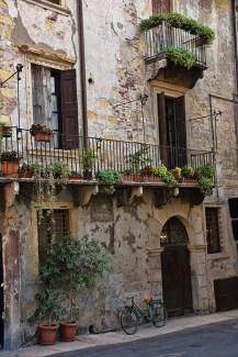 Huis met balkon Verona Italië