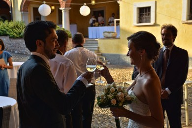 Bruiloft Italië Bedizzole toost