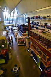 Interieur van het Scotland transport museum Glasgow