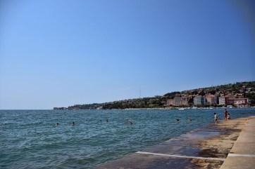 Zee en strand bij Portorož Slovenië