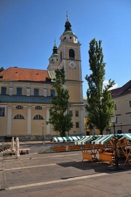Marktplein in Ljubljana