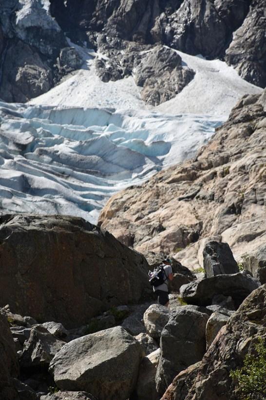 Buer gletsjer beklimming