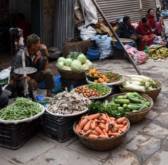 Markt verkopers Thamel Kathmandu