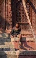 Nepalese man Durbar Square Kathmandu