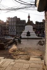 Straatbeeld Kathmandu Stupa
