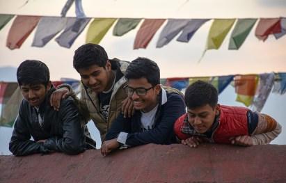Nepalese jongens Kathmandu