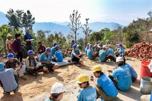 Vrijwilligerswerk Nepal school bouwen All Hands Volunteers