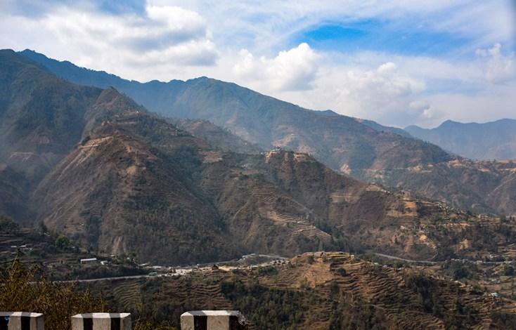 Busrit in Nepal van Kathmandu naar Nuwakot