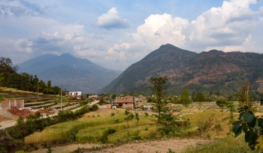 Vallei bij Trishuli en Tupche Nuwakot Nepal
