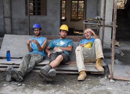 Vrijdagmiddag voor de vrijwilligers in Nepal